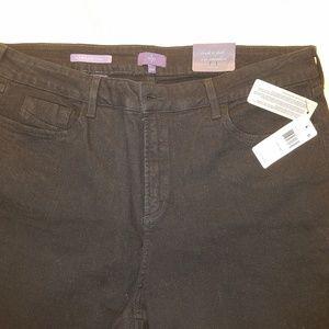 NYDJ Jeans - NYDJ Marilyn 18W Black Straight Leg Jeans